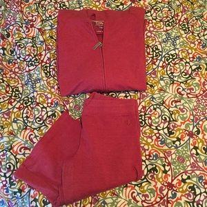 Pants - Red Sweat Suit